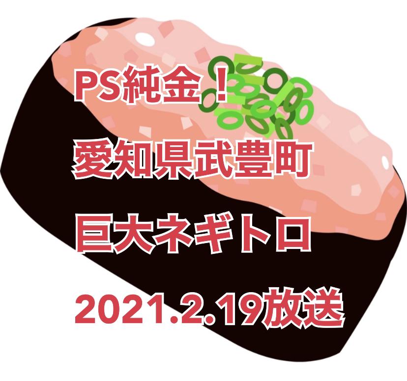 2021年2月19日放送「PS純金」中京テレビで、ネギトロ 25貫分 愛知県武豊町の「寿司居酒屋 大照」高田純次